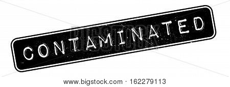 Contaminated rubber stamp. Grunge design with dust scratches. Effects can be easily removed for a clean, crisp look. Color is easily changed.