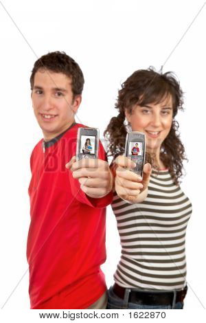 Showing Cellphones Screens