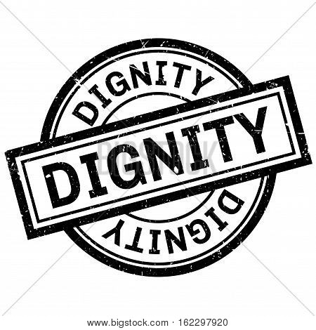 Dignity rubber stamp. Grunge design with dust scratches. Effects can be easily removed for a clean, crisp look. Color is easily changed.