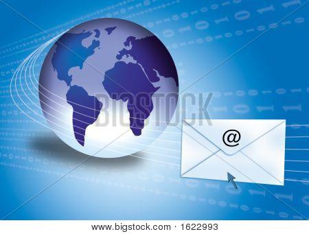 E-mail Concept met Globe