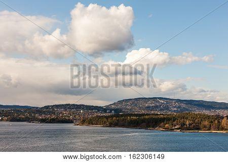 landscape on the coast near Oslo Norway