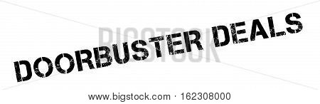 Doorbuster Deals rubber stamp. Grunge design with dust scratches. Effects can be easily removed for a clean, crisp look. Color is easily changed.
