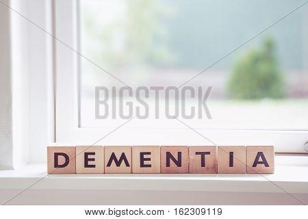 Dementia Sign In A Window