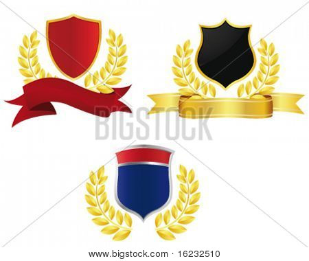 collection of shields