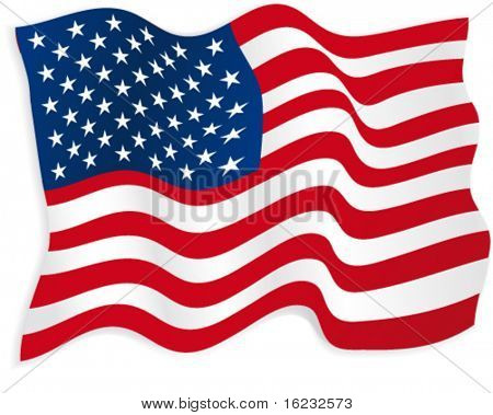 Bandeira americana. Vector