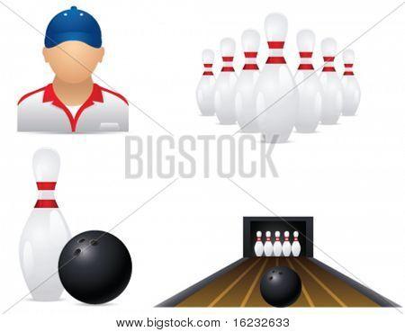 Bowling icons