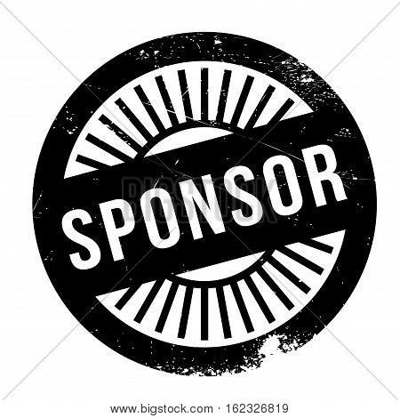 Sponsor stamp. Grunge design with dust scratches. Effects can be easily removed for a clean, crisp look. Color is easily changed.