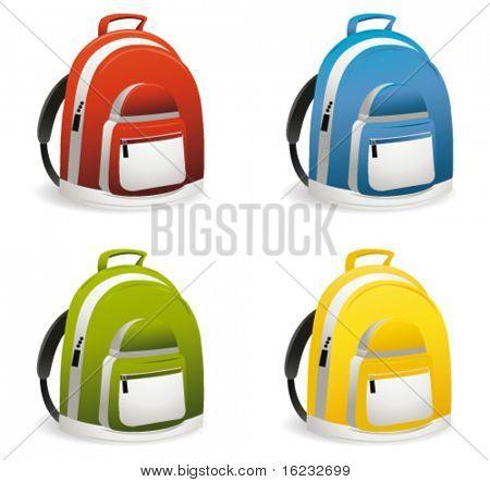 school bag. vector