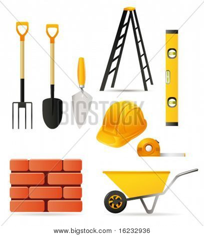 Building tools. Vector