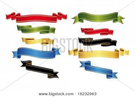Multicolored banners. Vector