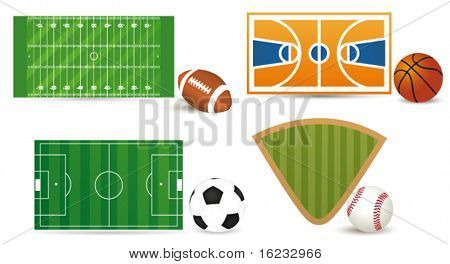 Sport fields. Vector