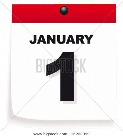 Calendar with 1st January