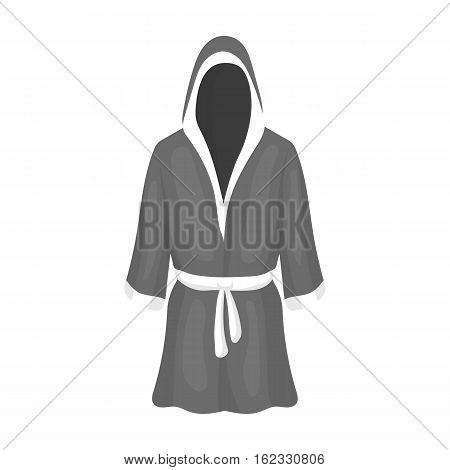 Boxing robe icon in monochrome style isolated on white background. Boxing symbol vector illustration.