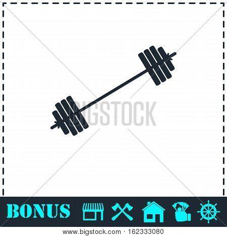 Free flex gear crossbar icon flat. Simple vector symbol and bonus icon