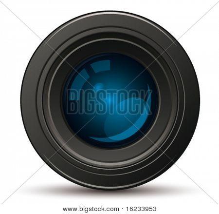 Lente de la foto. Vector