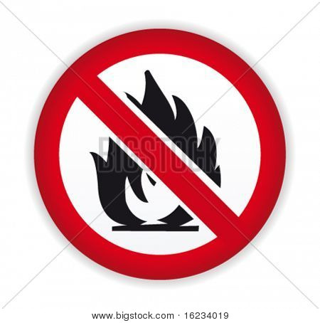No fire sign. Vector