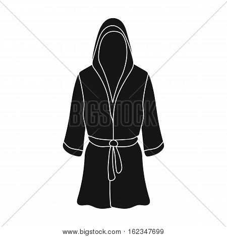 Boxing robe icon in black style isolated on white background. Boxing symbol vector illustration.