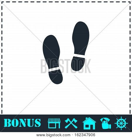 Shoes icon flat. Simple vector symbol and bonus icon