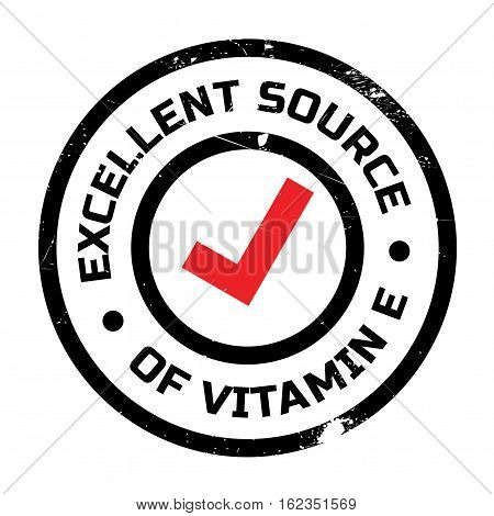 Excellent source of vitamin E stamp. Grunge design with dust scratches. Effects can be easily removed for a clean, crisp look. Color is easily changed.