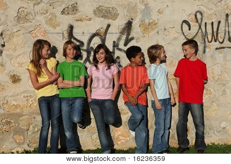 group of kids hanging out