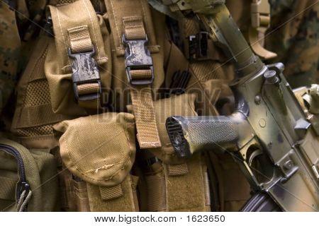 Armed U.S. Marine