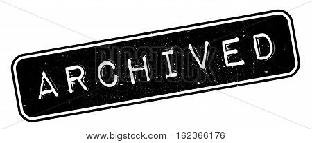 Archived rubber stamp. Grunge design with dust scratches. Effects can be easily removed for a clean, crisp look. Color is easily changed.