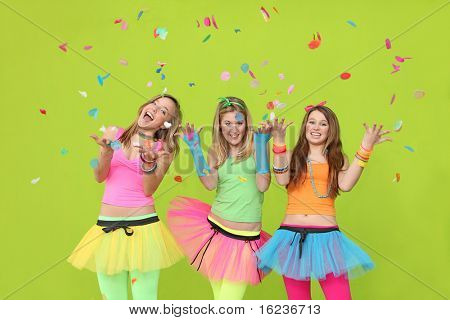 party teenagers with confetti