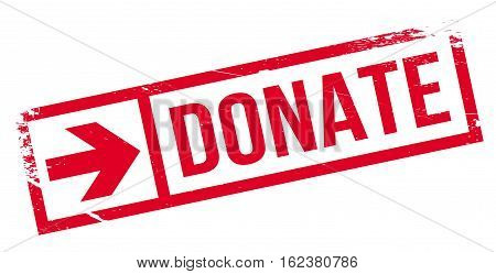 Donate stamp. Grunge design with dust scratches. Effects can be easily removed for a clean, crisp look. Color is easily changed.