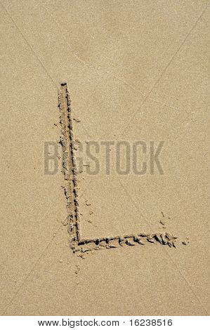 l in the sand