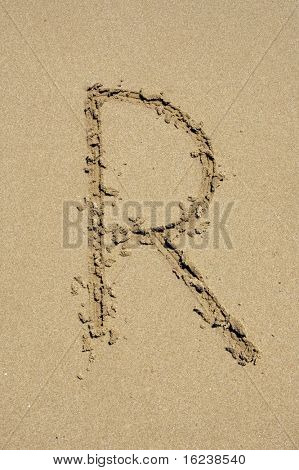 r in the sand