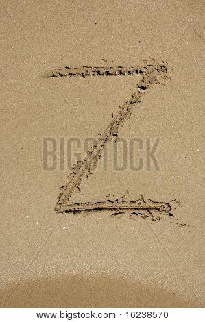 z in the sand