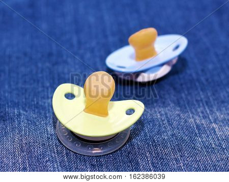 Baby s pacifies. Toys for sleep. Plastic object
