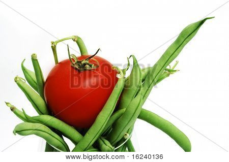 french beans and tomato