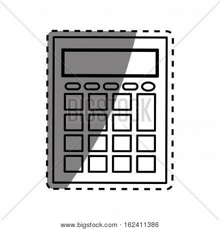 calculator math device icon vector illustration graphic design