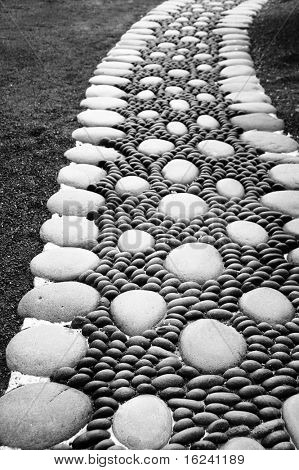 a zen stones background white and black