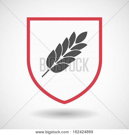 Isolated Shield With  A Wheat Plant Icon