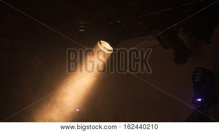 Ray Of Scenic Spot Light Over Dark