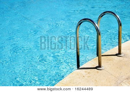 close up of a swimming pool in the summer
