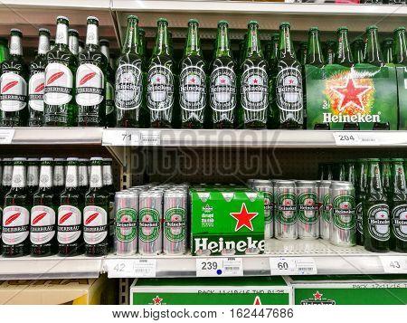 Heineken Beer Cans And Bottles