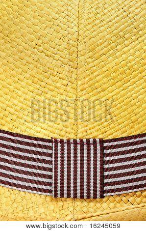 closeup of a straw Panama hat