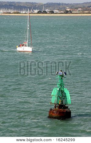 Green Navigational Starboard Buoy.