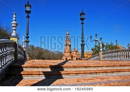 A view of Plaza de Espa?a, in Seville, Spain