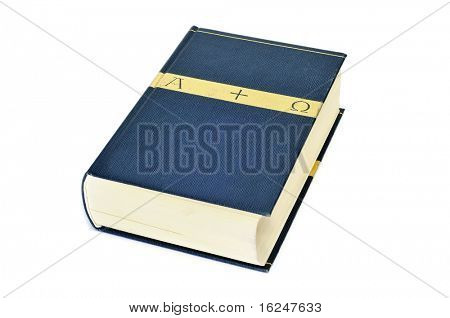 a holy bible isolated on a white background