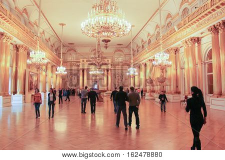 Gatchina, Russia - 3 December, Heraldic Hall State Hermitage, 3 December, 2016. Visit the Museum Reserve Gatchina Palace.