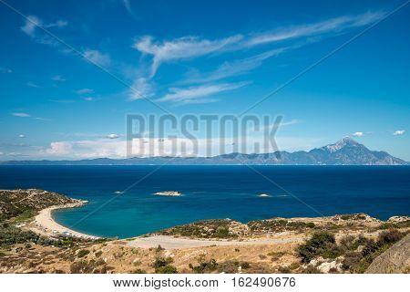 Panorama of Sithonia Chalkidiki peninsula in Greece