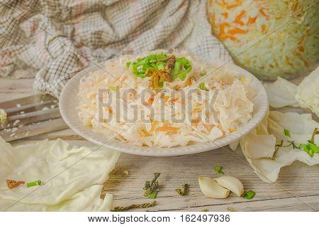 Sauerkraut On  Table