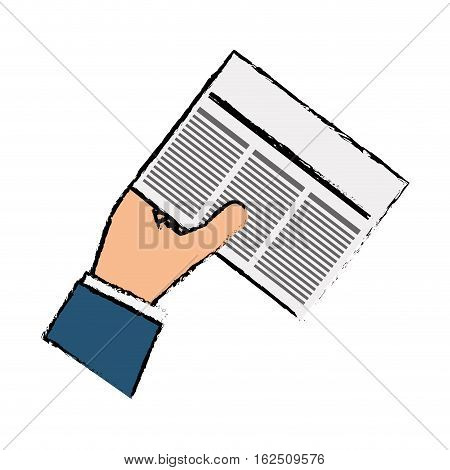 Newspaper info article icon vector illustration graphic