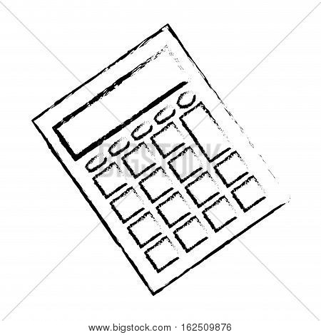 calculator math device icon vector illustration graphic