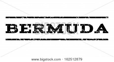 Bermuda watermark stamp. Text caption between horizontal parallel lines with grunge design style. Rubber seal stamp with scratched texture. Vector black color ink imprint on a white background.