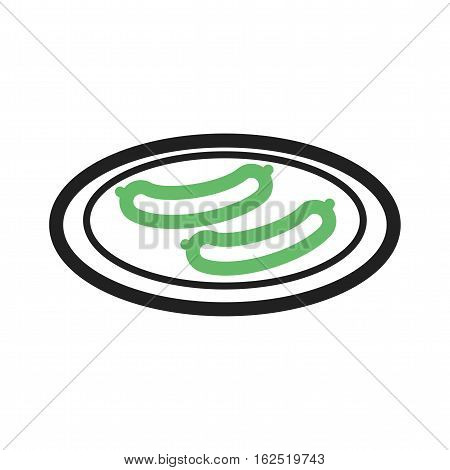 Sausage, boiled, food icon vector image. Can also be used for european cuisine. Suitable for mobile apps, web apps and print media.